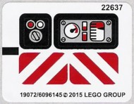 42032stk01 STICKER Compact Tracked Loader NIEUW loc