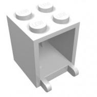 4345a-1G Box 2x2x2 opening voorkant dichte noppen wit gebruikt *5K000