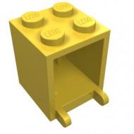 4345a-3G Box 2x2x2 opening voorkant dichte noppen geel gebruikt *5K000