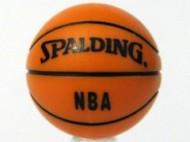 43702pb01-4 Basketbal met opdruk SPALDING- NBA oranje NIEUW *0D001