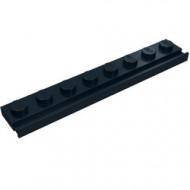4510-11 Platte plaat 1x8 met deurrail/dakgoot zwart NIEUW *1L317/6