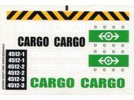 4512stk01 STICKER Cargo Train NIEUW *0S0000