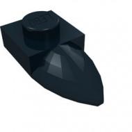 49668-11 Platte plaat 1x1 met tand IN VERLENGDE zwart NIEUW *1L290/3
