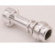577-22 Houder lichtzwaard chrome zilver NIEUW loc