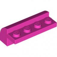 6081-47 Steen 2x4x1 1/3= 1 rij noppen, afgeronde kop roze, donker NIEUW *