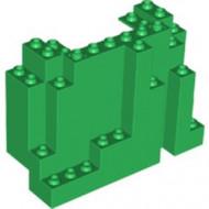 6082-6 Rechthoekig rotsstuk (BURP) LET OP: Kan niet door brievenbus, pakketzending groen NIEUW *5D0000
