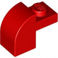 6091-5G Steen 2x1 met afgeronde kop en nop rood gebruikt *1L0000