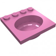 6195-47G Wasbak roze, donker gebruikt *5D0000