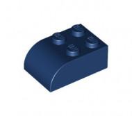 6215-63 Steen 2x3 afgeronde top 4 noppen blauw, donker NIEUW *
