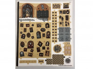 71043stk01 STICKER: Hogwarts Castle sheet 1 NIEUW loc