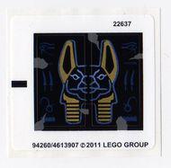 7327stk01 STICKER Scorpion Pyramid NIEUW *0S0000