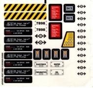7898stk01 STICKER Trein Cargo de Luxe NIEUW loc