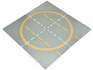 6099pb01-9G Basisplaat 32x32 afsplitsing gele lijnen  Grijs, licht (classic) NIEUW loc