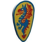 2586p4c-9G Schild ovaal blauw/rode draak Grijs, licht (classic) gebruikt loc