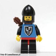 cas005G Black Falcons- Zwarte benen, rode heupen, zwarte helm kinbescherming, pijlenkoker gebruikt loc
