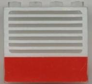 4215ap01-12G Paneel 1x4x3 RODE KRUIS rode streep Transparant gebruikt loc