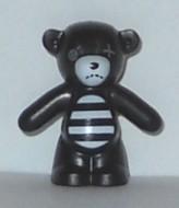 98382pb005-11 Teddybeer (Spooky Gir) (voorpoten naar beneden) zwart NIEUW *0D000