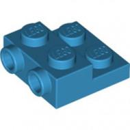 99206-153 Platte plaat 2x2x2/3 met 2 noppen zijkant blauw, donkerazuur NIEUW *1L0000