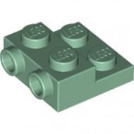 99206-48 Platte plaat 2x2x2/3 met 2 noppen zijkant groen, zandkleurig NIEUW *1L0000