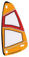 bb663pb01-12G Zeil 6x12 Oranje en rode opdruk (plastic) transparant gebruikt *5D000