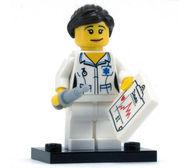 col01-11 Verpleegster met injectiepsuit, grafiek, standaard NIEUW loc