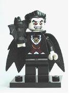 col02-5 Vampier met vleermuis en standaard NIEUW loc Halloween