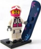 col03-5 Snowboarder met snowboard en standaard NIEUW *0M0000