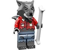 col14-1 Wolfman met been en standaard NIEUW loc Halloween