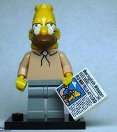 colsim-6 Grandpa Simpson met krant en standaard NIEUW *0M0000