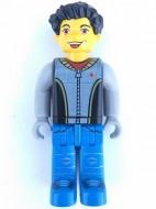 cre004G Max, Black Torso, Light Gray armen, and blauw benen gebruikt *0M0000