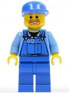 cty0048G Blauwe overall, blauwe pet, blauwe broek gebruikt *0M0000