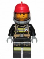 cty1004G Brandweerman met rode helm gebruikt *0M0000