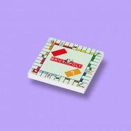 CUS0015 Tegel 2x2 BrickOpoly wit NIEUW loc