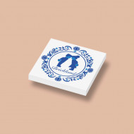 CUS3043 Tegel 2x2 Delfts Blauw - Brickland wit NIEUW *0A000