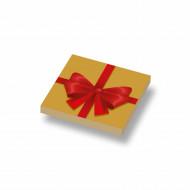 CUS3048 Tegel 2x2 Kerstcadeau deksel 1 crème,donker NIEUW *0A000