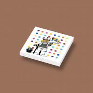 CUS3056 Tegel 2x2 Ame72 Painter Spot grijs, donker (blauwachtig) NIEUW *0A000