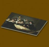 CUS4006 12 tegels 2x2 Anatomische les- Rembrandt van Rijn wit NIEUW *0A000