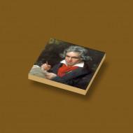 CUS4015 Tegel 2x2 Portret Beethoven crème,donker NIEUW *0A000