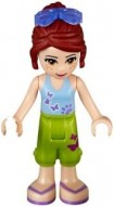 frnd101 Friends- Mia, opgestroopte broek, middenblauw topje zionnebril NIEUW loc