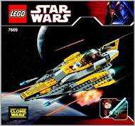 INS7669-G 7669 BOUWBESCHRIJVING- Star Wars: Anakin's Jedi Starfighter gebruikt *