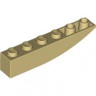 LEGO 42023-2 Omgekeerde dakpan 6x1 rond crème NIEUW *1L0004160405