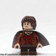 lor003 LOR: Frodo Baggins- Bruine jas donkerblauw grijze cape NIEUW loc