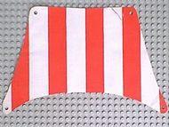 sailbb04-1G Zeil 27x17 Rode dikke strepen (top) wit gebruikt *5D000