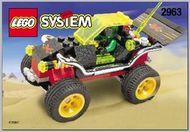 Set 2963 BOUWBESCHRIJVING- Extreme Racer Auto gebruikt loc