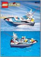 Set 4012 BOUWBESCHRIJVING- Wave Cops- Politieboot gebruikt loc LOC M1