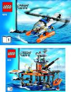 Set 4210 BOUWBESCHRIJVING- Coast Guard Platform Auto gebruikt loc