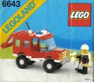 Set 6643 BOUWBESCHRIJVING- Fire Truck gebruikt loc LOC M3