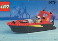 Set 6679 BOUWBESCHRIJVING- Dark Shark gebruikt loc LOC M3