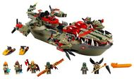 Set 70006 - Legends of Chima: Cragger's Command Ship zonder doos- gebruikt
