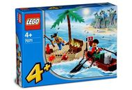 Set 7071 Pirates Treasure Island-Nieuw